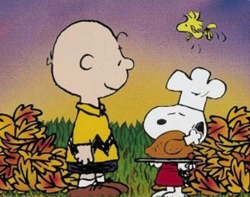 Charlie Brown and Snoopy Thanksgiving Image