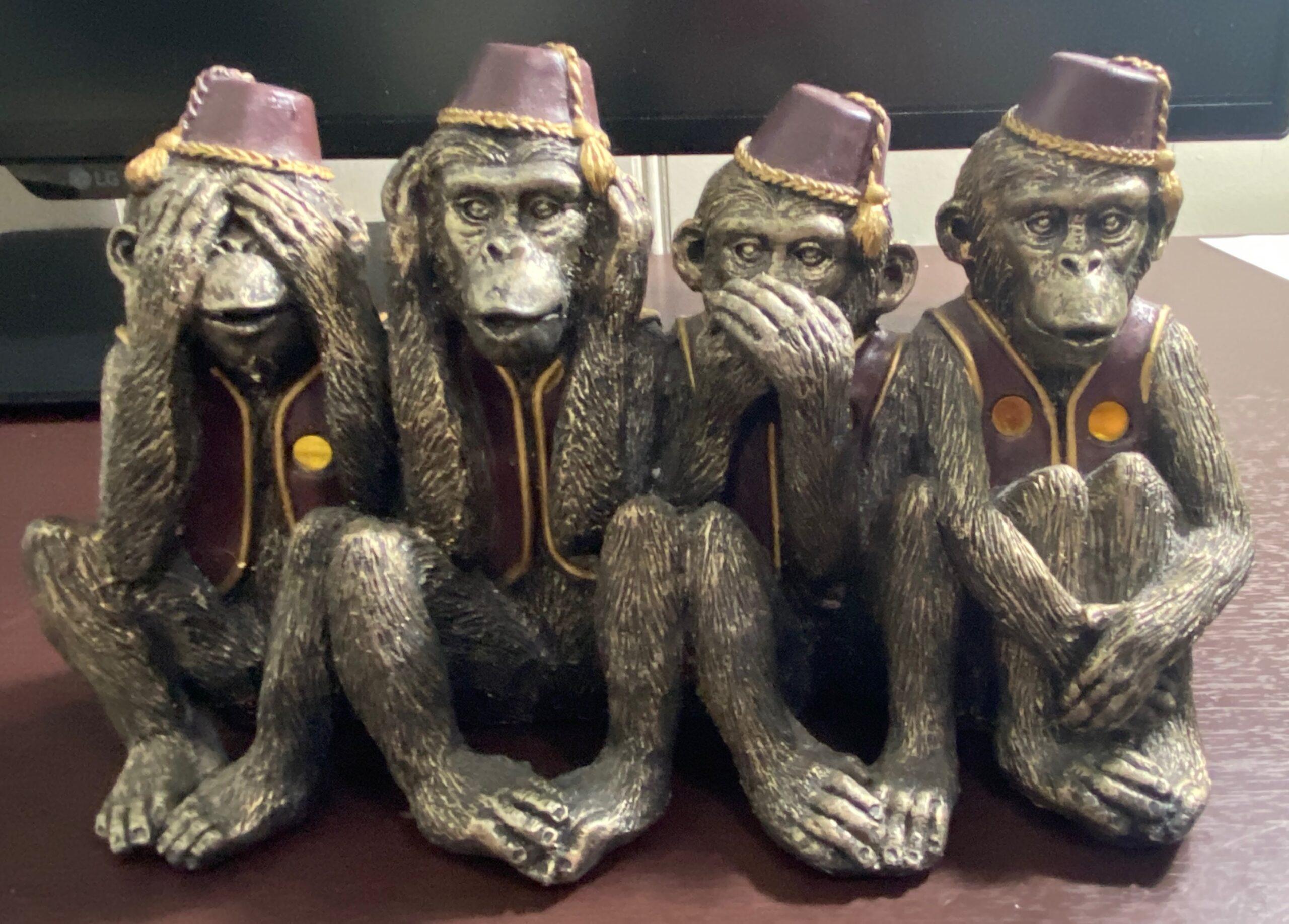 See, Speak, Hear no evil monkeys