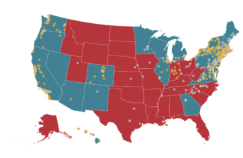 US states that voted for Biden or Trump